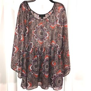 Gypsy Peasant Paisley Top, Size L